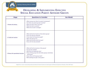 Worksheet-Developing & Implementing SEPAGs
