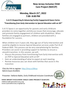 NJICCP SAFE Space March 2022
