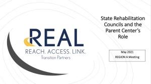 State Rehabilitative Councils and the Parent Center's Role webinar