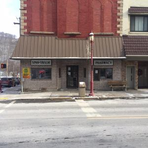 (Picture being used for Our Mission) Front exterior of Span & Taylor Drug Co.