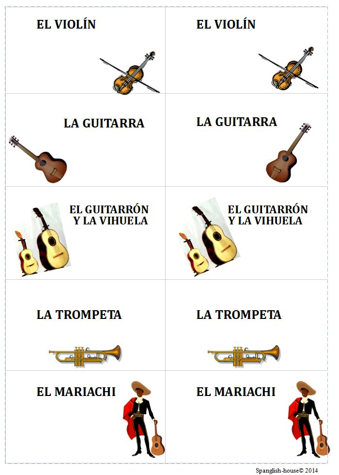 memory cards mariachi  Spanglish House