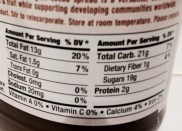 Natural Nectar Choco Dream Hazelnut Cocoa Spread Nutrition Label