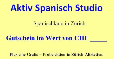Spanischkurs Gutschein