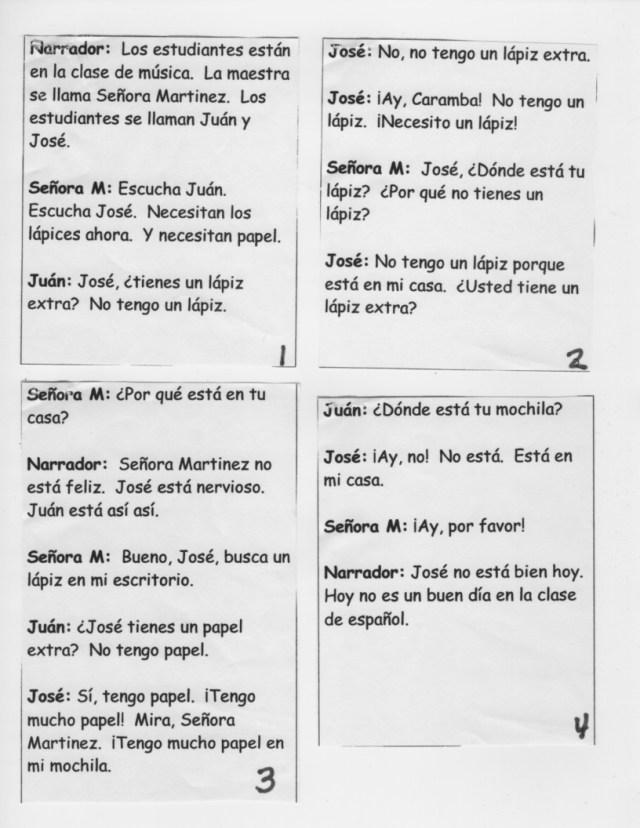 Spanish Conversation Building Idea: Write Skits  Spanish for You