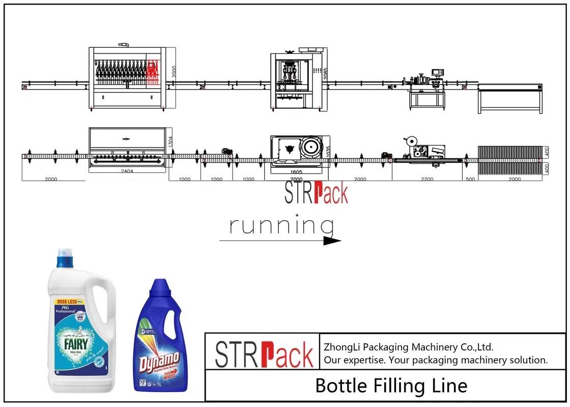 hight resolution of el plc controla la l nea de la m quina de rellenar del detergente para ropa con alta eficacia de la producci n