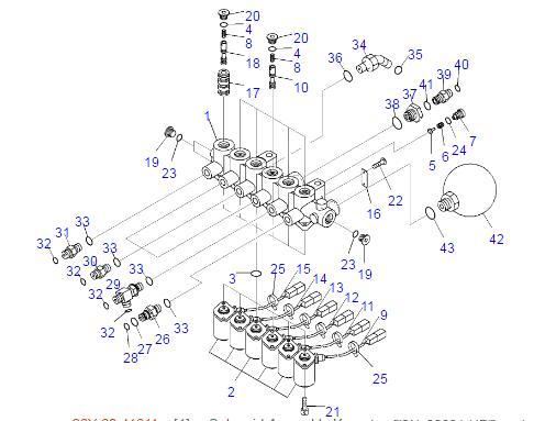 válvula electromagnética de 20Y-60-32120 20Y-60-32121 para