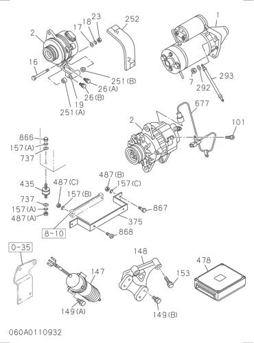 1811003381 el arrancador del motor 1-81100338-1 6BG1 24V