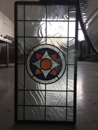 Decorative bevel glass for bath room windows patina caming