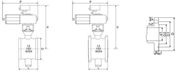 Tipo tipo flotante CE PN10/16 de la vávula de bola del