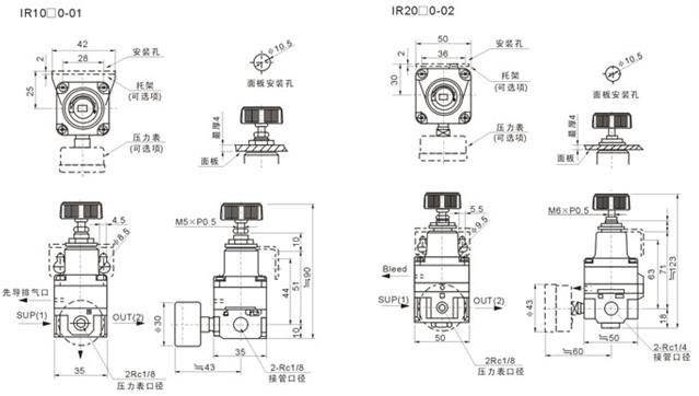"""De la"""" regulador neumático del aire alta precisión G1/4, 0"""
