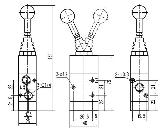 la válvula purgadora neumática de actuación directa de 25m