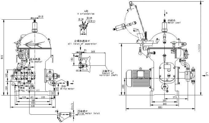 Descarga manual de los equipos centrífugos del separador
