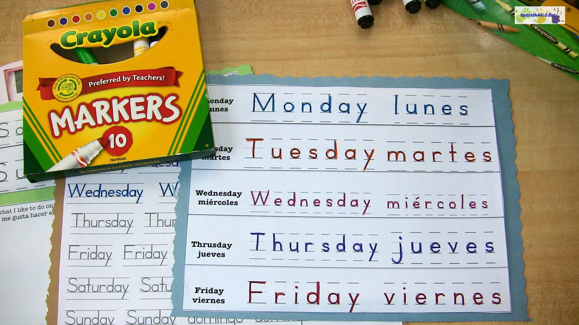 Free Writing Practice Days Of The Week