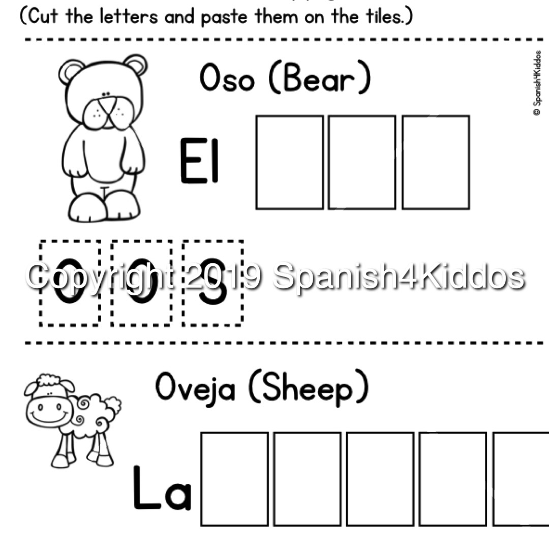 Spanish Alphabet Writing Practice Workbook B/W