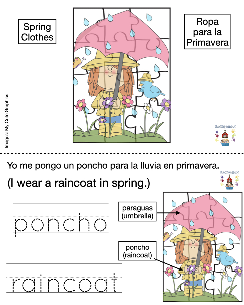 clothing terms for spring