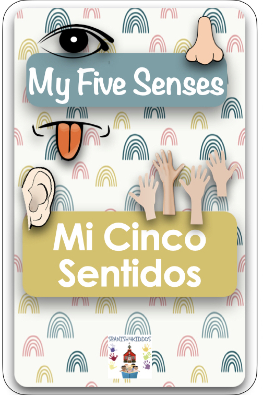 Spanish five senses bilingual reading