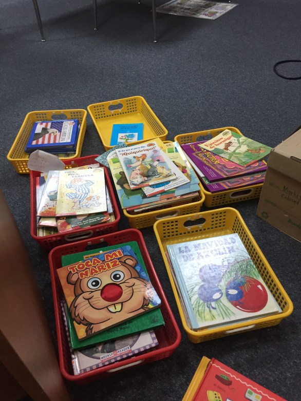 Putting books in order by grade level