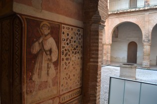 Fresco of a monk at the San Isidoro del Campo Monastery in Santiponce