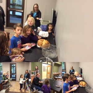 Exploradores tried pan de muerte - day of the dead bread, tamales and sugar skulls. We made a craft and learned about the traditions during the holliday.