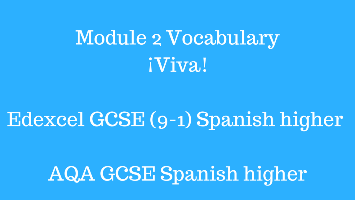 Module 2 Vocabulary¡Viva! Edexcel AQA GCSE