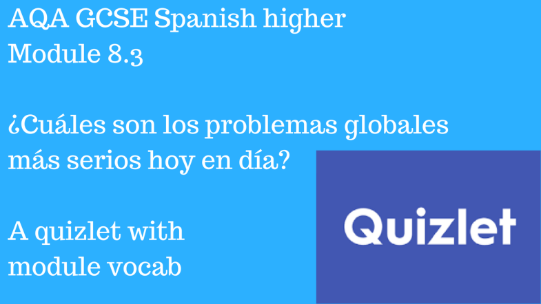 AQA GCSE Spanish higher Module 8.8 ¡Apúntate! Quizlet