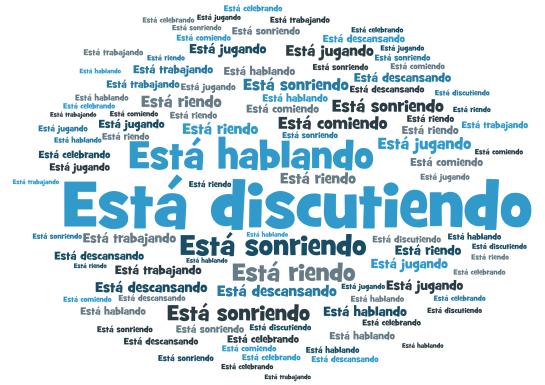 GCSE Spanish describing a photo - actions