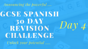 GCSE Spanish 30 day revision challenge – day 4
