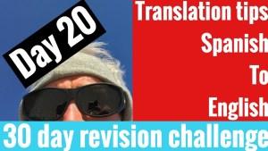 Spanish GCSE 30 day challenge | day 20