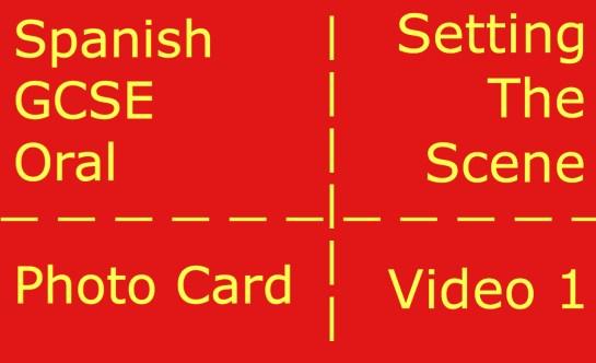 GCSE Spanish oral - photocard - setting the scene