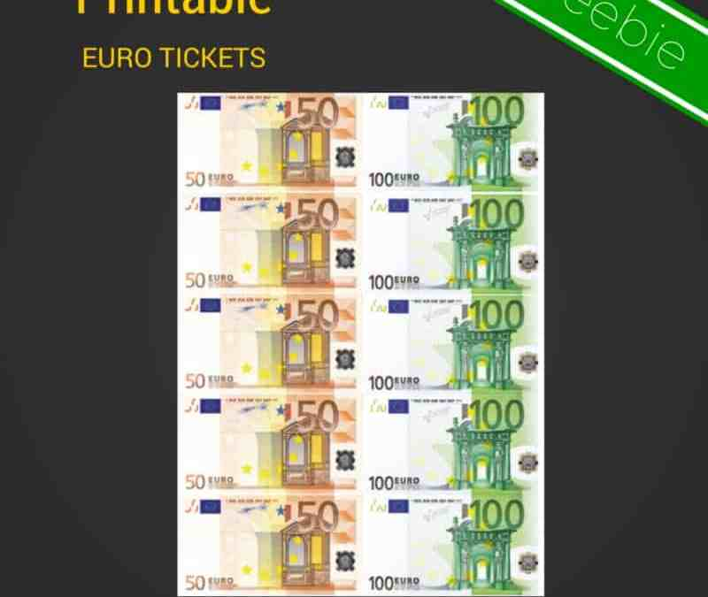 Printable Conversation Euro Tickets