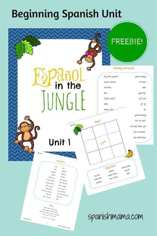 free spanish worksheets for kids