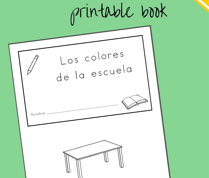 Free Classroom Objects Printable Booklet