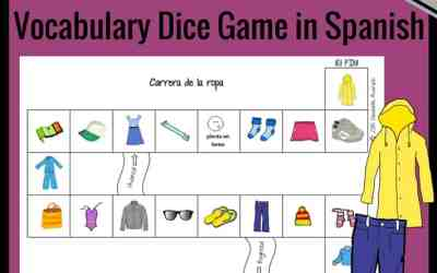 Printable Clothing Vocabulary Game