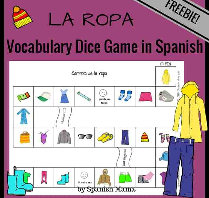 Printable Clothing Vocabulary Game