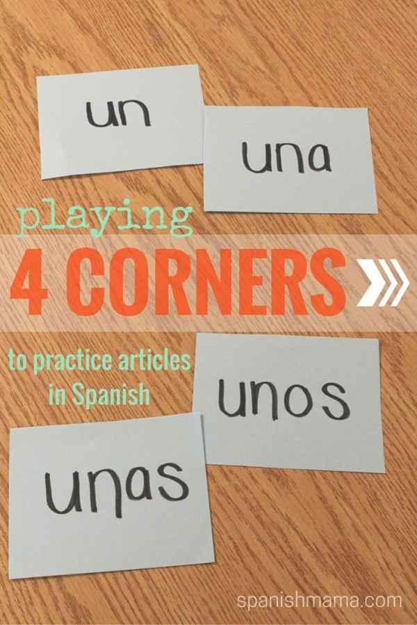 4 corners to practice spanish