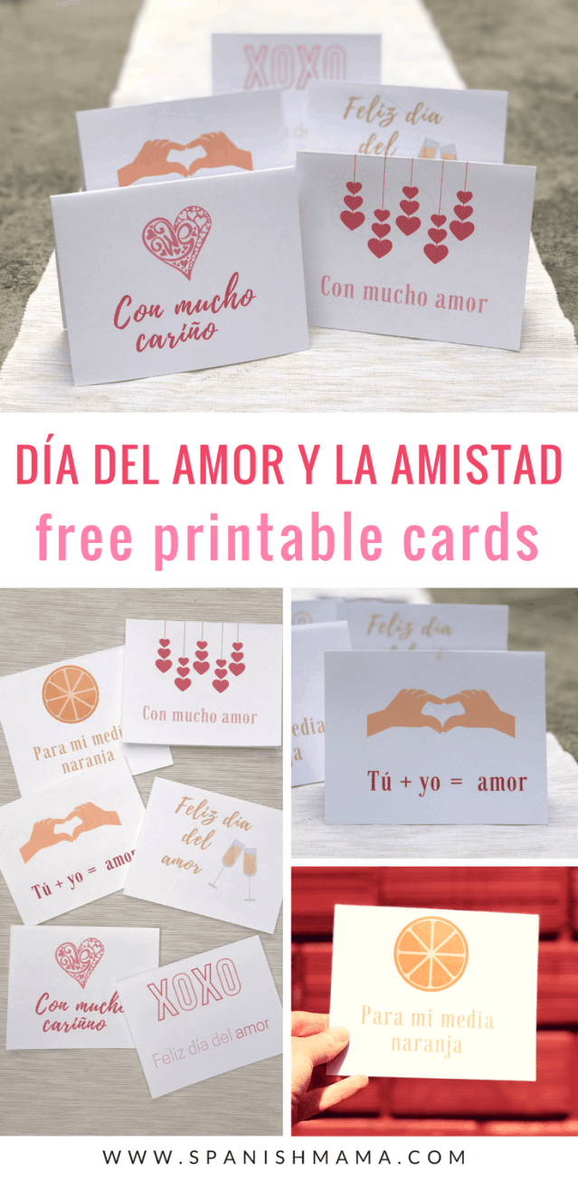 free valentine's day cards in Spanish