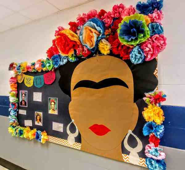 frida kahlo bulletin board hispanic heritage month