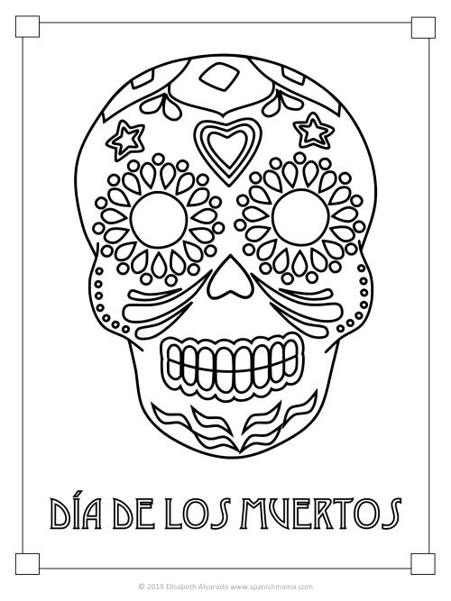 sugar skull for coloring
