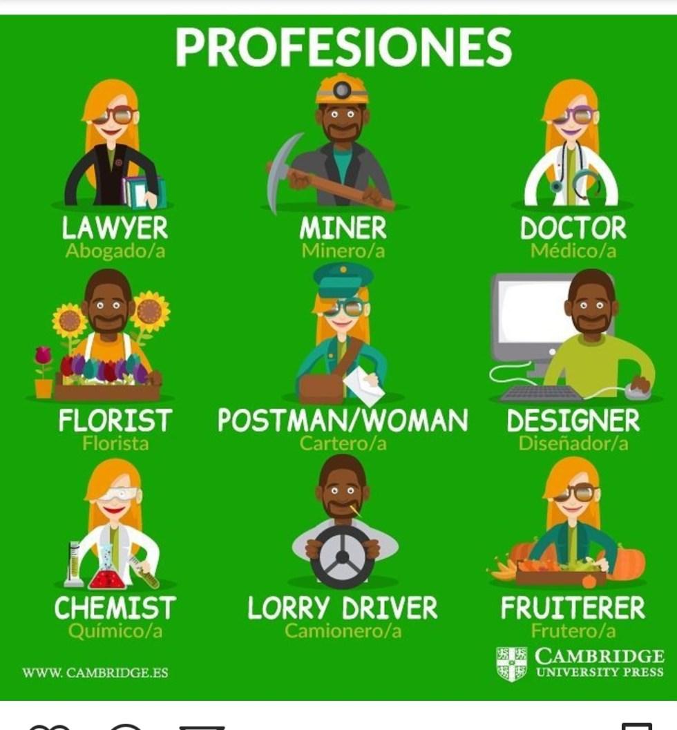 Profesiones, en qué trabajas