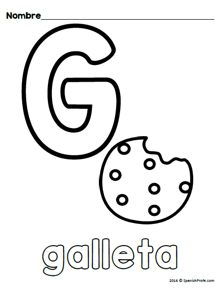 Alphabet Coloring Sheets in Spanish (Upper and Lower Case