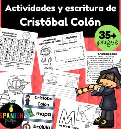 Christopher Columbus in Spanish (Cristobal Colon actividades y escritura) -  Spanish Profe [ 1152 x 1152 Pixel ]