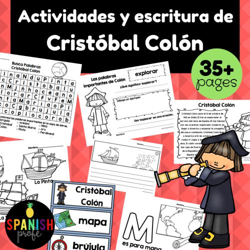 small resolution of Christopher Columbus in Spanish (Cristobal Colon actividades y escritura) -  Spanish Profe