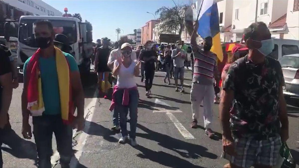 Protestas xenófobas organizadas por la ultraderecha en Canarias han terminado en agresiones contra extranjeros