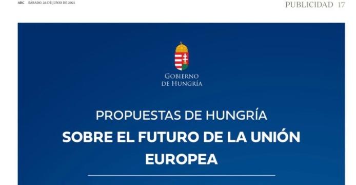 «Hungría paga una página al ABC para hacer propaganda y anti democrática»