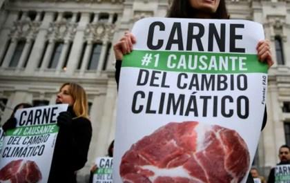 carne y cambio climatico