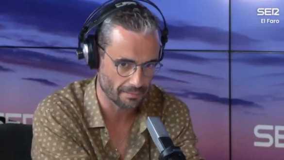 Captura de Javier Gómez Santander durante su entrevista en el programa El Faro de la Cadena SER