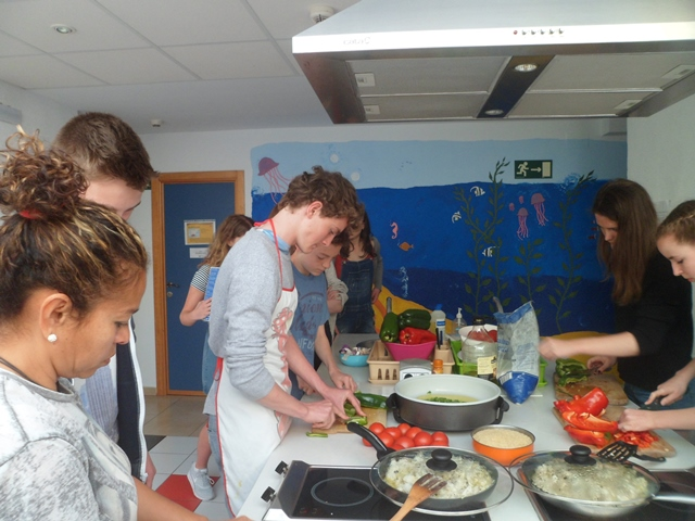 Spanish cooking lesson