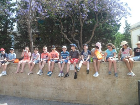 School group on excursion