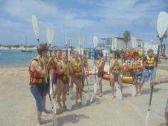 Haciendo kayak!