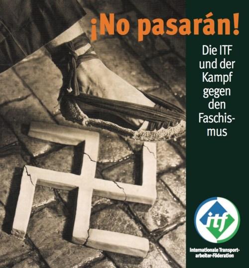 Broschüre über die Internationale Transportarbejder-Föderation (ITF) und den spanischen Bürgerkrieg